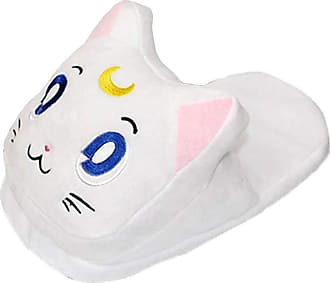 Cosstars Sailor Moon Anime Cosplay House Slippers Furry Indoor Slip On Shoes for Women and Men 3