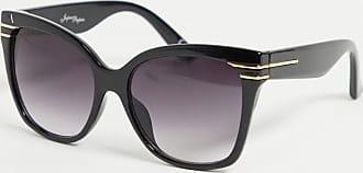 Jeepers Peepers Occhiali da sole oversize neri a occhi di gatto-Nero