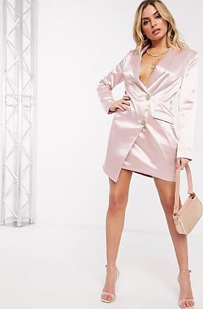 Unique21 Unique21 - Blazer in raso rosa chiaro