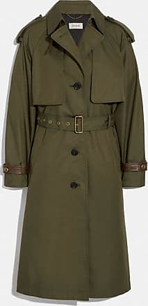 Coach Cotton Trench Coat in Green - Size 08