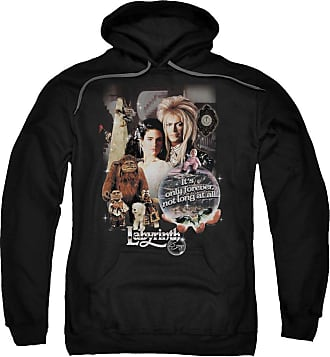 Popfunk Labyrinth 25 Years of Magic Unisex Adult Pull-Over Hoodie for Men and Women Black