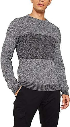 ESPRIT Damen Jacquard-Pullover aus 100/% Baumwolle grau meliert