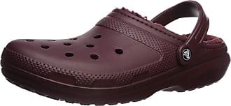 Crocs Unisex Adults Classic Lined Clog, Red (Burgundy/Burgundy 60u), M10/W11 (45/46 EU)