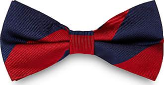 TND Basics Papillon rosso e blu navy in seta con fantasia a righe c9f95d9ec027