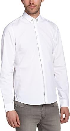Religion Mens Skull Casual Shirt, White, Medium