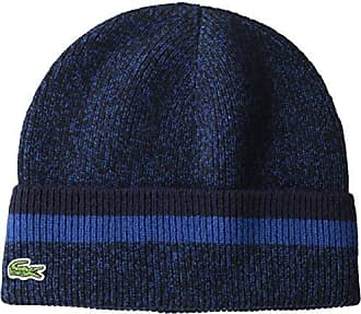 fccbb0750 Lacoste Mens Made in France Wool 1x1 Double Fil Beanie