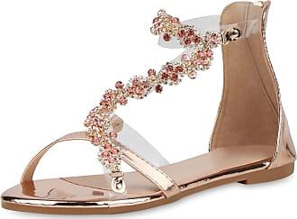 Scarpe Vita Women Strap Sandals Rhinestone Metallic 193367 Gold UK 6.5 EU 40