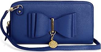 Craze London New Womens LYDC London Bow Designed Women Wallet Handbag Fashion Purse (Navy)