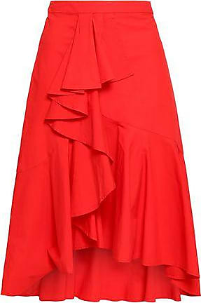 Joie Joie Woman Chesmu Ruffled Cotton-poplin Skirt Red Size 00