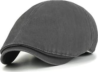 Ililily New Men¡¯s Cotton Washing Flat Cap Cabbie Hat Gatsby Ivy Caps Irish Hunting Hats Newsboy with Stretch fit (flatcap-003) (Charcoal)