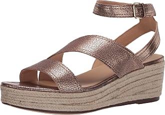 Naturalizer womens Ursa Wedge Sandals Brown Size: 7.5 Wide