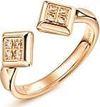 Emphasis Timeless18K Red Gold Brown Diamond Ring
