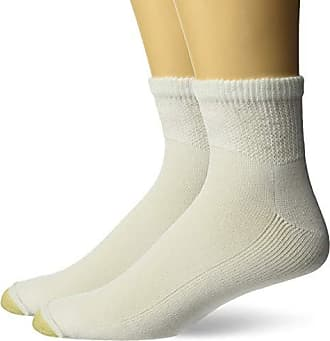 Gold Toe Mens Non Binding Super Soft Quarter 2 Pack Lg, White, 13-15