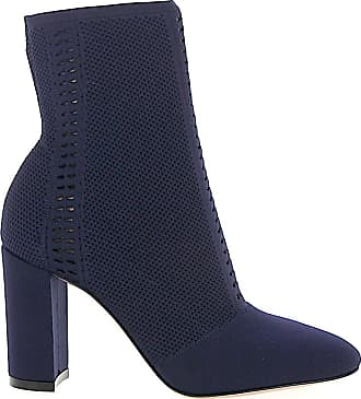 Gianvito Rossi Ankle Boots THURLOW nylon perforated blue