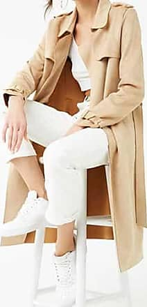 Forever 21 Forever 21 Faux Suede Trench Coat Camel