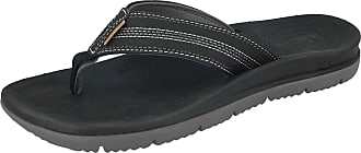 Freewaters Mens Tall Boy Toe Post EVA Max Cushion Lightweight Sporty Active Beach Water Friendly Flip Flops Mule Sandals Size 6-11 (UK 10, Black)