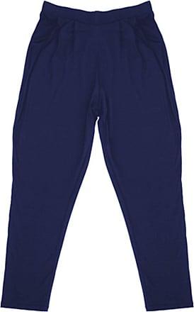 Tom Franks Womens Lightweight Hareem Summer Trouser Bottoms Lounge Wear Pants - Navy - Pack of 1