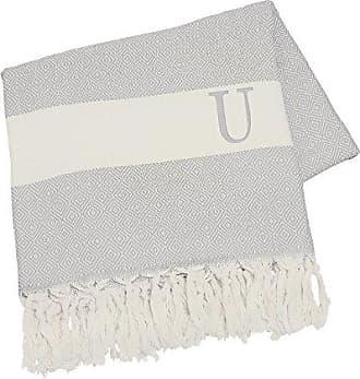 Cathy's Concepts Personalized Turkish Throw, Letter U, Grey