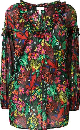 Escada Sport Blusa floral com franzido - Preto