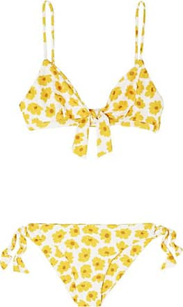 d61cbbfed7 Faithfull The Brand Laurent And Abbey Tie-detailed Floral-print Triangle  Bikini - Yellow