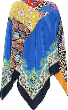 Etro Printed silk poncho