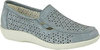Boulevard Ruth Ladies Cut Out Slip On Shoes Navy UK 5