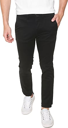 Jack & Jones Calça Sarja Jack & Jones Chino Lisa Preta