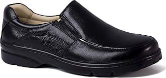 Doctor Shoes Antistaffa Sapato Masculino Esporão 5300 em Couro Floater Preto Doctor Shoes-44