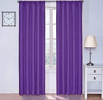 Eclipse Blackout Curtains for Bedroom - Kendall 42 x 63 Insulated Darkening Single Panel Rod Pocket Window Treatment Living Room, Purple