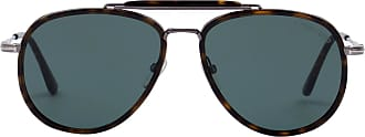 Tom Ford Eyewear Óculos de Sol Aviador Tartaruga - Mulher - Marrom - 58 US