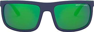 A|X Armani Exchange Óculos de sol retangular - Azul