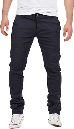 Yazubi Mens Trousers Chinos Pants Dustin Skinny Slim Fit Long Royal Navy Teal Aqua Cobalt Midnight, Blue (Night Sky 4R193924), W32/L38