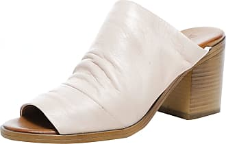 Inuovo Womens Slouchy Leather Block Heel Mules 5 Pink