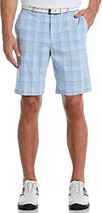 PGA TOUR Short court à carreaux pour hommes, teint en fil Vista Blue, 30