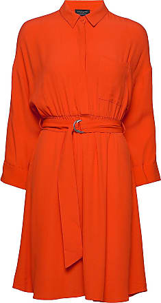 Selected Slfemery-Vienna 7/8 Short Dress B Knälång Klänning Orange Selected Femme