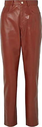 Philosophy di Lorenzo Serafini Glossed-leather Straight-leg Pants - Brown