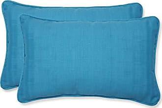 Pillow Perfect Outdoor Veranda Rectangular Throw Pillow, Set of 2, Blue