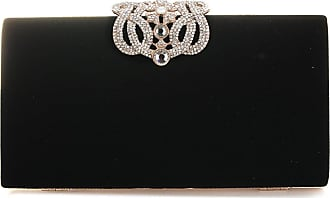YYW Evening Bag, Womens Fashion Party Bag and Clutches Luxury designer Bag, One Size, Black