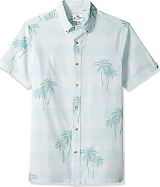 Ben Sherman Mens Ss Geo Texture PRNT Shirt