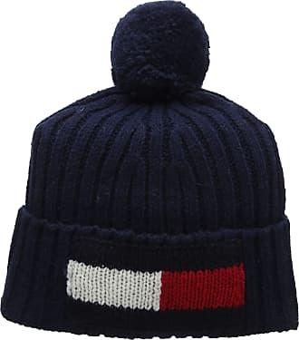 a8fd4467 Tommy Hilfiger Mens Big Flag Beanie Blue (Tommy Navy 413), One (Size