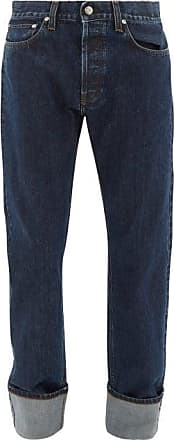 Helmut Lang Masc High-rise Ankle-roll Jeans - Mens - Indigo