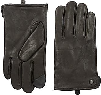 Calvin Klein Mens Basic Side Vent Leather Glove with Touchscreen Technology, Black, XL