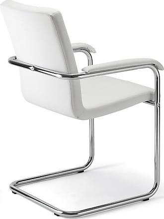 Bureaustoel Wit Leer Metalen Voet.Stoelen In Wit 340 Producten Van 10 Merken Stylight
