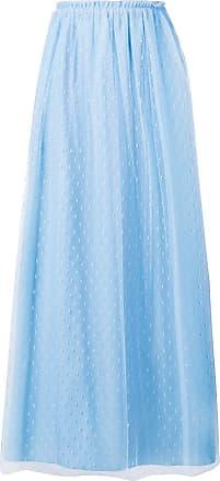 Red Valentino point desprit tulle skirt - Blue