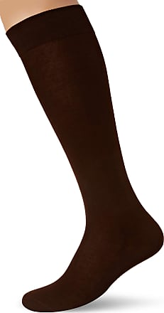 Falke Men Tiago Knee-Highs - 95% Cotton, Brown (Acacia 5530), UK 11.5-12.5 (Manufacturer size: 47-48), 1 Pair