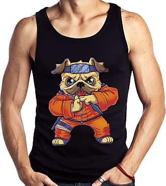 Dragon Store Camiseta Regata Pugruto Ninja Pug Parodia Anime Cachorro