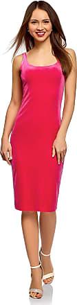oodji Womens Velvet Vest Dress, Pink, UK 4 / EU 34 / XXS