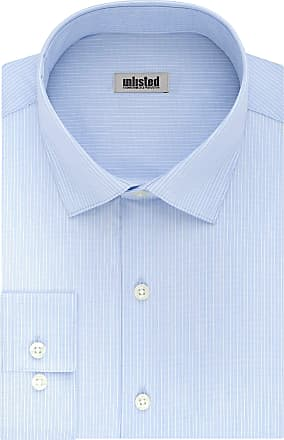Unlisted by Kenneth Cole mens32LG053Dress Shirt Slim Fit Stripe Spread Collar Long Sleeve Dress Shirt - Blue - 18/18.5 Neck 36/37 Sleeve (XXL)