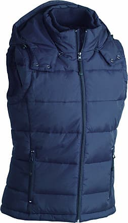 James & Nicholson JN1004 Mens Puffer Quilted Water Resistant Gilet Navy Size S