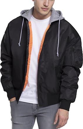 Urban Classics Mens Hooded Oversized Bomber Jacket, Multicoloured (Blk/Gry 29), XXL
